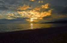 The sunsets over the Agawa Bay.