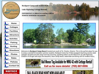 Cottages and Cabins for rent in Lake Nipissing - West Arm