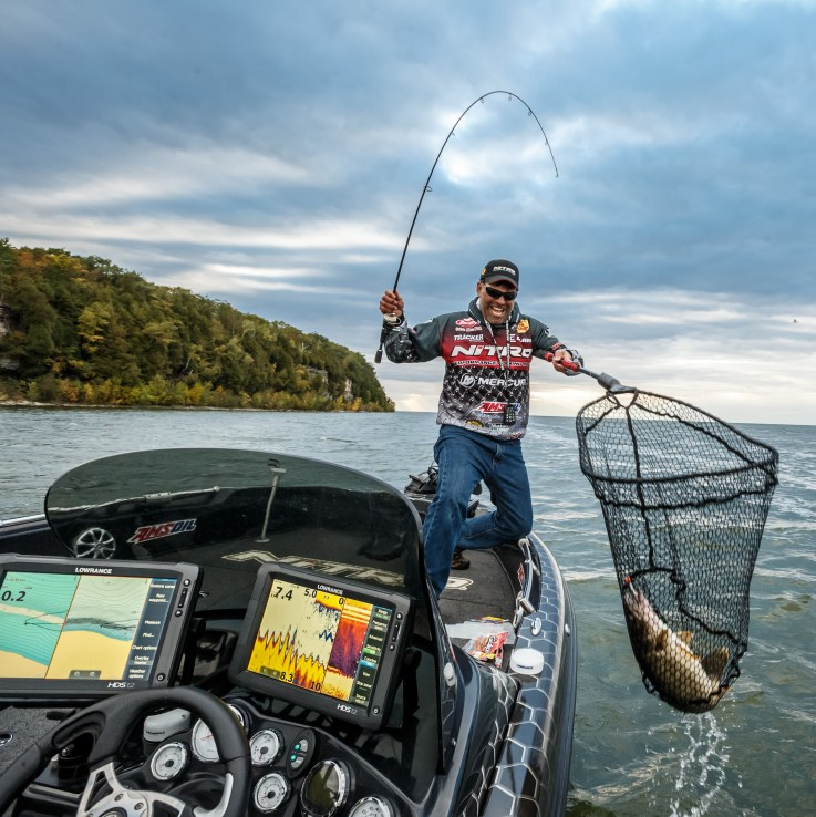 Keith Kavajecz with a Walleye:  So what kind of features are available to today's tech-savvy angler? The list honestly seems to grow every day …