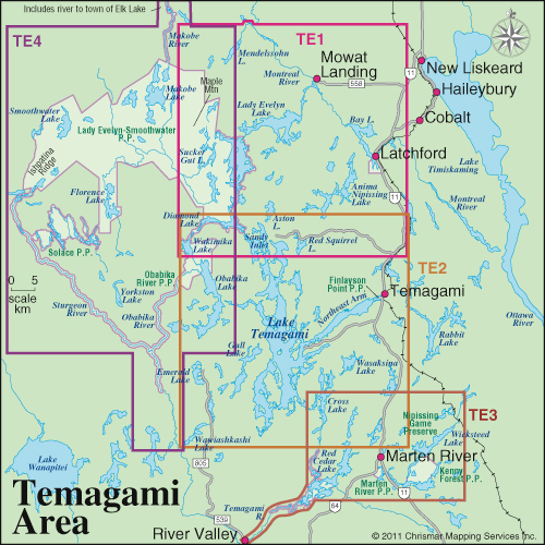 Temagami Area Map Guide