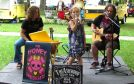 The family musical trio The Honey Sweethearts of Blyth performed.