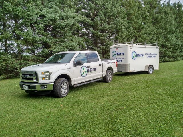 image of clients truck and trailer