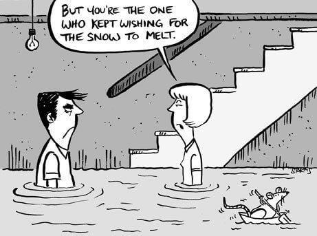 flooded basement cartoon image