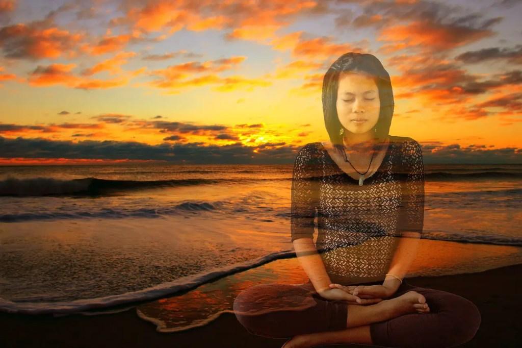 Mediteren en even helemaal ergens anders zijn met je hoofd.