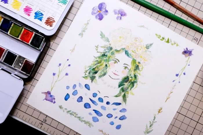 《水彩創作》神美的花王plantica花卉似顏繪~手機限定