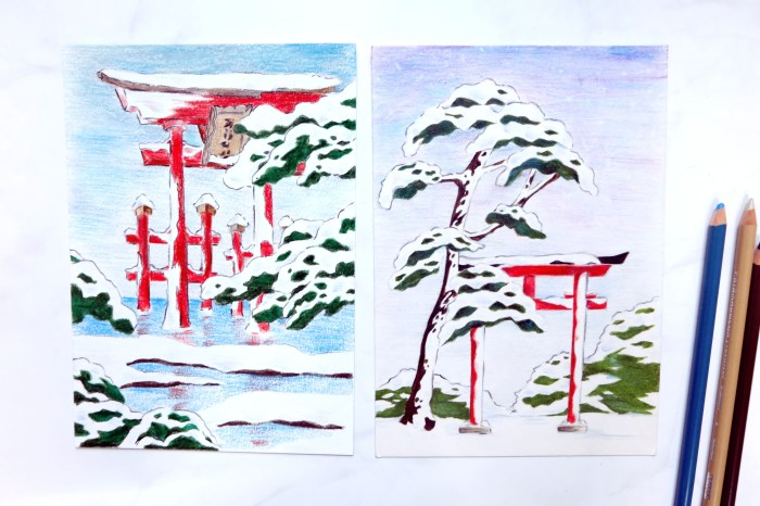 冬季小風景。新竹色鉛筆。初階班課程