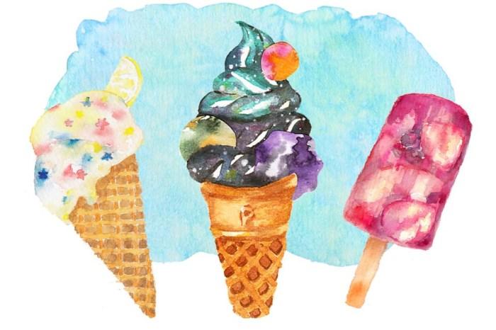 夏日派對‒宇宙冰淇淋。新竹輕水彩。初階班課程
