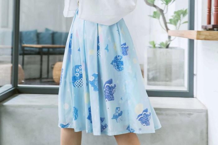 水彩插畫裙 屬於新竹生活的印花設計 漫步舊城的在地文創