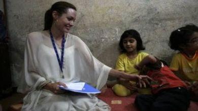 انجلينا جولي تزور اطفال سوريا