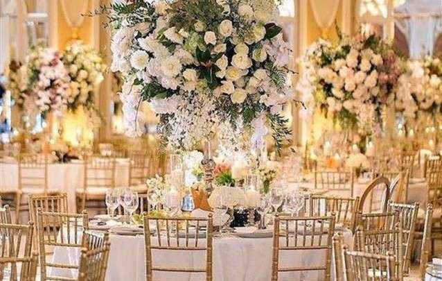 موعد زفافك والتحضيرات إليك هذه الصور أجمل ديكورات قاعات فاخرة لحفل الزفاف