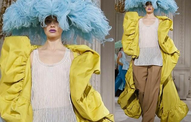 مجموعةValentino للخياطة الراقية لربيع 2018 جمعت في تصاميمها بين الخيال والواقع