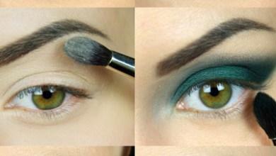 مكياج عيون أخضر