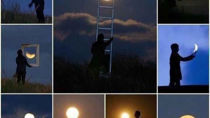 """الفنان لاورنت لافيدر و """"اللعب مع القمر"""""""