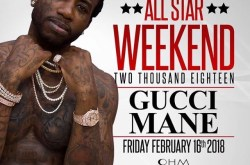 Friday, Feb. 16th. GUCCI MANE will be at OHM Nightclub in Hollywood.