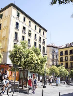 La plaza de Lavapiés, Madrid