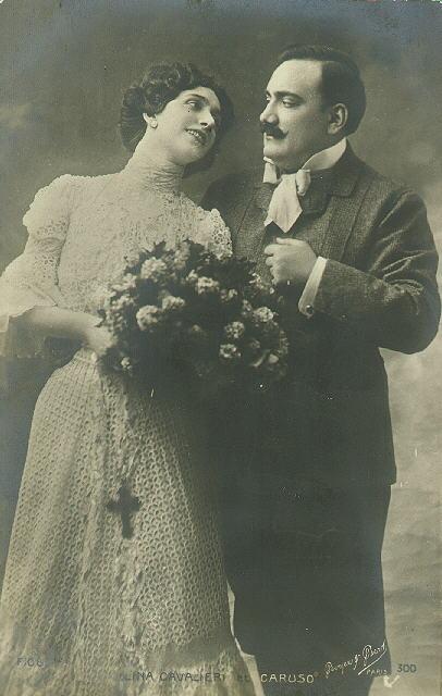 Lina Cavalieri y Caruso (1905-1907). Princeton University Archive. Autor desconocido.