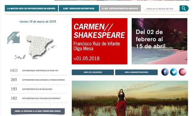 La Ventana del Arte, la mayor guía de exposiciones en España