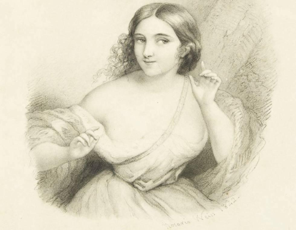 Rosario Weiss, Alegoría de la Atención (autorretrato) Madrid, 1842, Museo del Romanticismo, Madrid