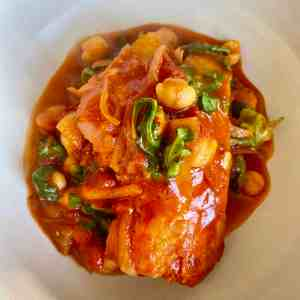 Poached Cod in Tomato Curry