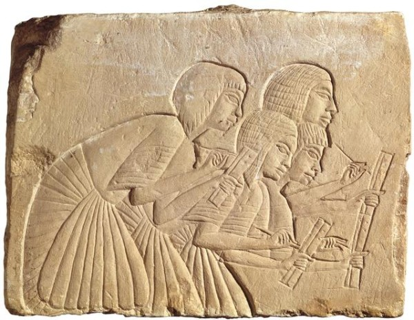 Egyptian-Scribes--600x464