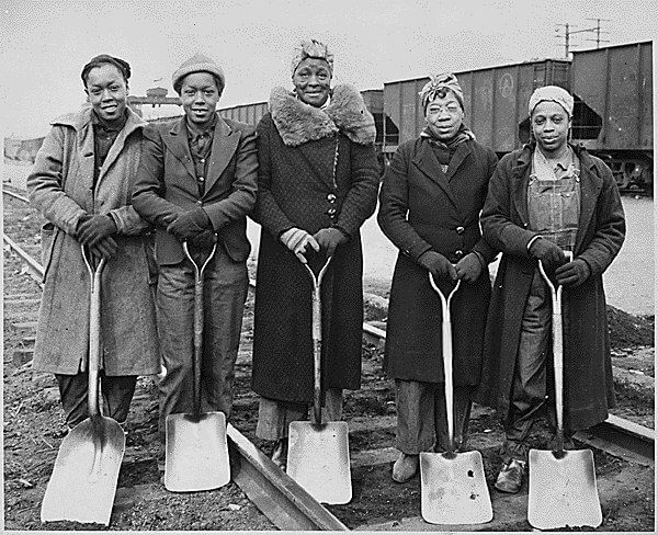 Black Women in Railroad Construction