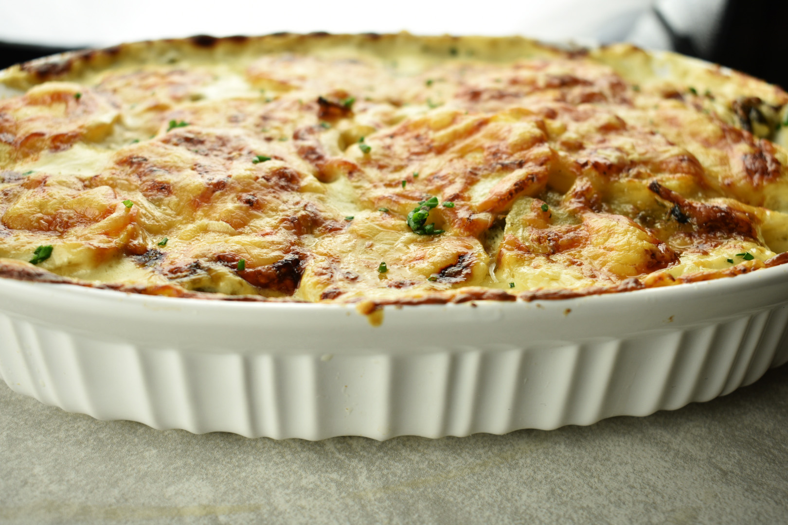 Potato Gratin with Roasted Hatch Chilies1