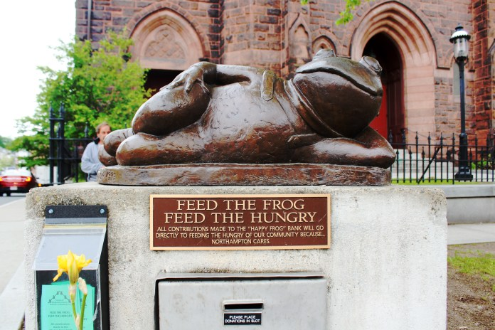 Feed The Hungry Frog Statue