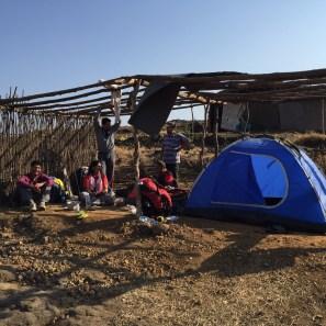 Camp site at Harishchandragadh Fort