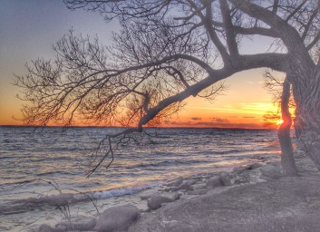 Sunset by Lake Ontario, in November