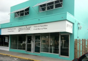 The exterior of Green Bar & Kitchen