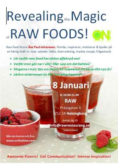 Raw food class at RAW in Helsingborg Sweden