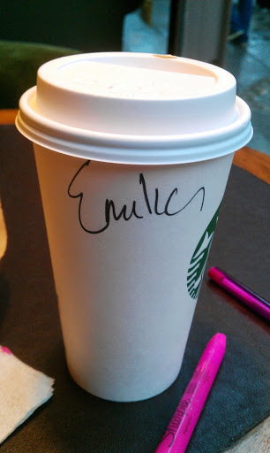 """At Starbucks I go by """"Emilia"""""""