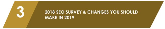 2018 SEO survey and changes you should make in 2019