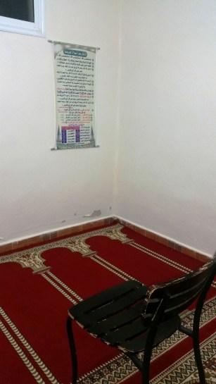 The prayer room in Morocco