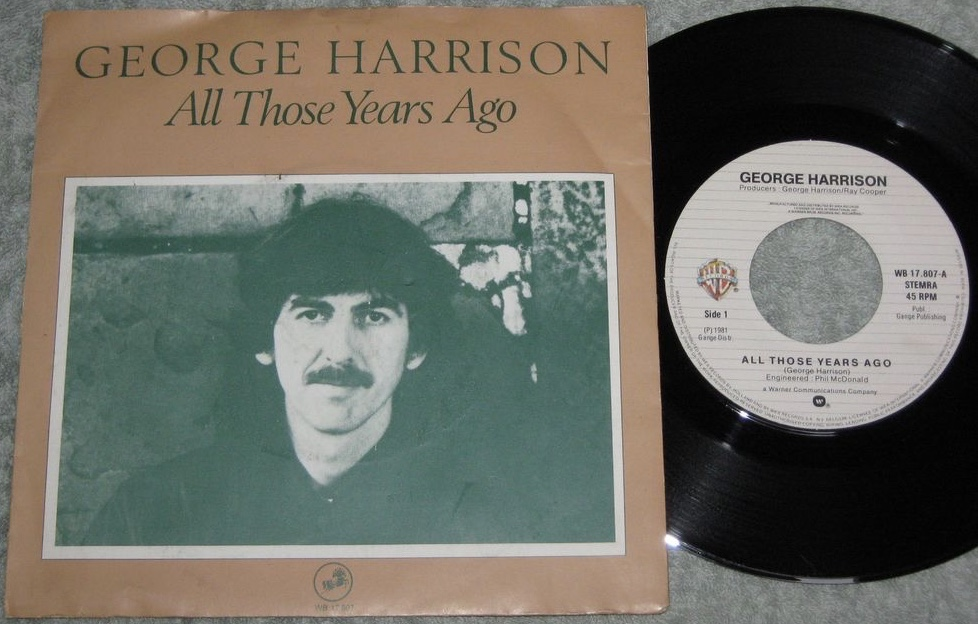 It Wasnt Until Mid 1981 That George Harrison Had Another Hit Single He Been Working On The Song All Those Years Ago Originally For Ringo