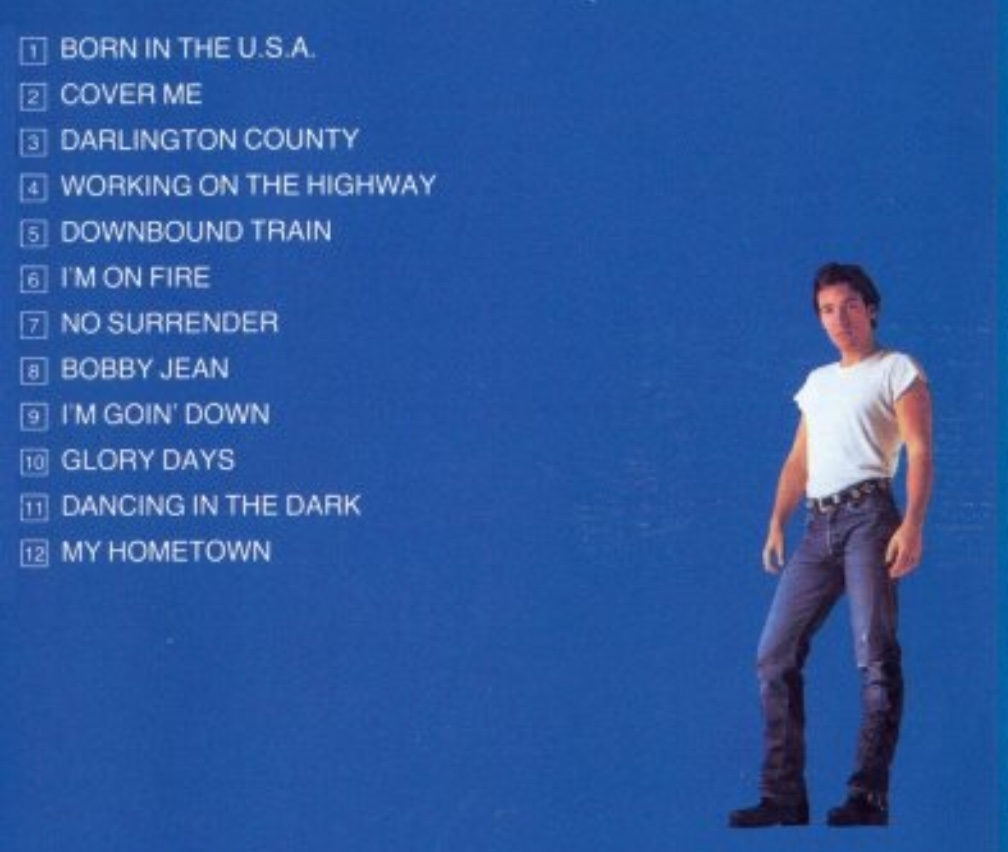 Bruce Springsteen Born In The U S A Album On The Records