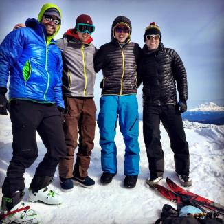 Mount St. Helens Crew (photo cred: Andy Shaw)