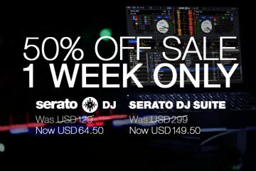 50% off Serato DJ or the Serato DJ Suite