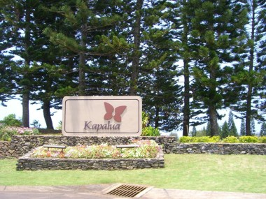 2=20 - kapalua street sign