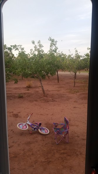 view out our front door @ Tularosa Vineyards