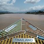タイ、ラオス、ミャンマーの3カ国がメコン川で接する