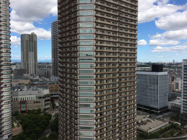 高層階の部屋からの眺め