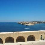 聖エルモ砦からの景色。対岸にも別の砦が見える