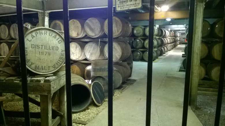 Laphroaig cask storage