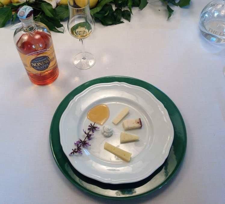 Cheese and grappa