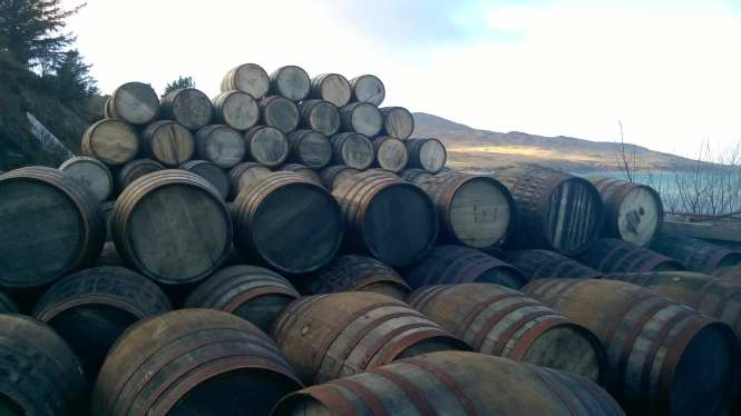 Whisky barrells Islay