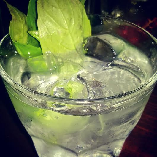 Gin with basil