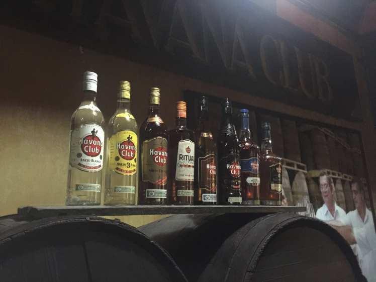 havana club bottles