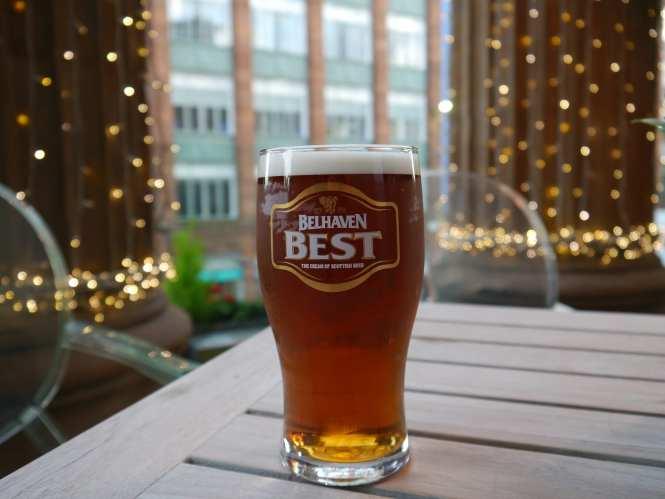 A pint in a pub in Glasgow