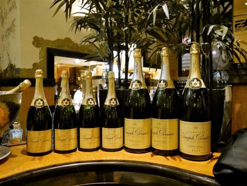 Champagne at Rogano Glasgow